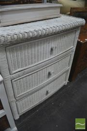 Sale 8431 - Lot 1071 - Cane Chest of Drawers