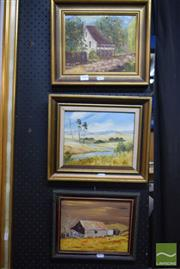 Sale 8530 - Lot 2045 - 3 Well Framed Signed Oil Paintings