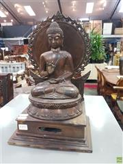 Sale 8601 - Lot 1392 - Bronze Style Seated Buddha Figure (H: 37 W: 22 D: 17cm)