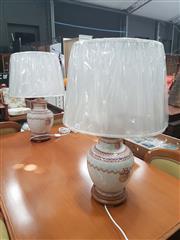 Sale 8676 - Lot 1380 - Pair of Italian Museum Replica Table Lamps