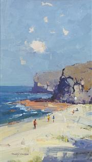 Sale 8732 - Lot 503 - Colley Whisson (1966 - ) - By the Rockpool 43.5 x 24cm