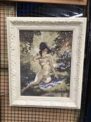 Sale 8730 - Lot 2072 - Framed Norman Lindsay Style Print, on board