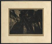 Sale 8784 - Lot 2010A - Artist Unknown Over... linocut, ed. AP, 22.5 x 30cm, signed lower right -