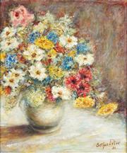 Sale 8781 - Lot 593 - Esther Potox (1927 - 2007) - Floral Still Life, 1986 46 x 38cm