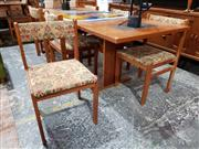 Sale 8930 - Lot 1069 - Gangso Mobler Danish Teak Table with Slate Inserts & Six Chairs