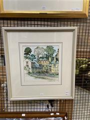 Sale 8924 - Lot 2049 - Cedric Emamuel - Historic Berrimaink and watercolour, 58 x 55cm,  signed