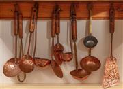 Sale 8926K - Lot 97 - A collection of copper ladles