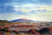 Sale 9041 - Lot 2040 - Jack Absalom (1927 - 2019) Everard Ranges - Land of the Pitjantjatjara colour offset lithograph 43 x 60cm signed lower left -
