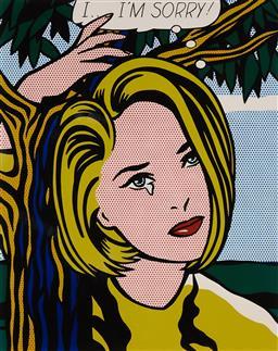 Sale 9154JM - Lot 5014 - ROY LICHTENSTEIN (1923 - 1997) Untitled (Im Sorry) decorative print after original 58 x 46 cm (frame: 98 x 83 x 3 cm) gallery frame