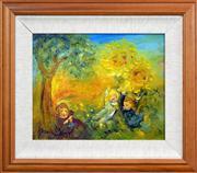 Sale 8316 - Lot 564 - David Boyd (1924 - 2011) - Sunflower Children 30.5 x 37cm
