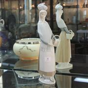 Sale 8351 - Lot 9 - Lladro Bisque Figure of a Lady