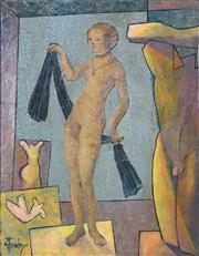 Sale 8417T - Lot 2071A - Greg Frawley (1947 - ) - When Lucas Sent Venus to Collect a Maquette 20.5 x 15cm