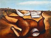 Sale 8401 - Lot 568 - Garry Shead (1942 - ) - Brumby, 1987-88 90 x 120cm