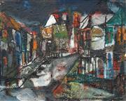 Sale 8467 - Lot 536 - Judy Cassab (1920 - 2015) - Paddington in the Rain 37.5 x 47.5cm