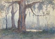 Sale 8519 - Lot 581 - Gerald Fitzgerald (1873 - 1935) - Untitled (Morning Mist) 19.5 x 27.5cm