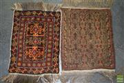 Sale 8515 - Lot 1022 - 2 Persian Prayer Rugs 65x45 & 62x50cm