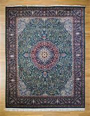 Sale 8566C - Lot 51 - Pak Persian Kashan Silk Inlaid 365cm x 276cm