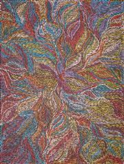 Sale 8583 - Lot 551 - Jeannie Petyarre (c1956 - ) - Bush Yam Leaves 207 x 157cm