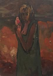 Sale 8773 - Lot 601 - James Wigley (1917 - 1999) - Girl with Galah 34.5 x 23.5cm