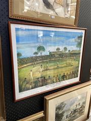 Sale 8891 - Lot 2092 - Pro Hart - The Bush Test decorative print, signed lower left, 51 x 64 cm -