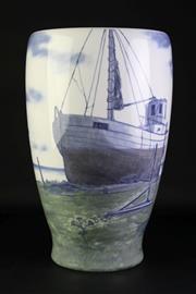 Sale 8894 - Lot 312 - Royal Copenhagen Vase of Significant Proportions (large crack) (47 x 31cm)