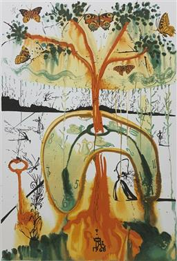 Sale 9108A - Lot 5014 - Salvador Dali (1904 - 1989) - Mad Tea Party 75 x 55 cm