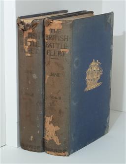 Sale 9134H - Lot 78 - Two volumes of Janes British Battle Fleets