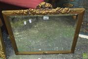 Sale 8310 - Lot 1607 - Gilt Frame Bevelled Edge Mirror