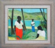 Sale 8316 - Lot 563 - Ray Crooke (1922 - 2015) - Beachside Morning 39.5 x 49.5cm