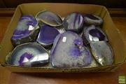 Sale 8507 - Lot 1045 - Box of Purple Agate Polished