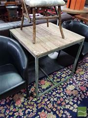 Sale 8554 - Lot 1050 - Bakers Old Oak Top Square Table (H 77 x L 75 x W 75cm)