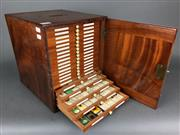 Sale 8638 - Lot 602 - Antique Timber Specimen Cabinet containing 21 trays of 500 microscope slides of late C19th & early C20th natural history & minerals...