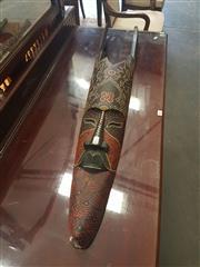 Sale 8676 - Lot 1163 - Dot Painted Tribal Mask