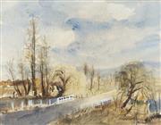 Sale 8732 - Lot 508 - Margaret Coen (1913 - 1993) - Blue Mountains 46 x 59cm