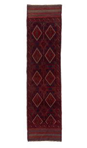 Sale 8715C - Lot 177 - A Persian Meshvani Village Rug, Wool On Cotton Foundation Classed As Tribal Sumak, 240 X 62Cm