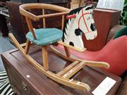 Sale 8745 - Lot 1089 - Timber Horse Form Rocker