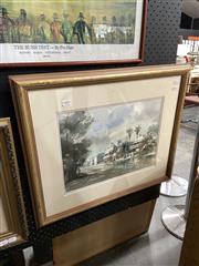 Sale 8891 - Lot 2093 - Helen Goldmsith - Sydney in the Wet, watercolour, 53 x 63 cm
