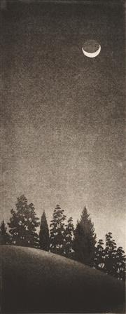 Sale 8992 - Lot 585 - Peter Hickey (1943 - ) - Berrima Moon 49 x 19.5 cm, 75 x 34.5 cm (sheet size)