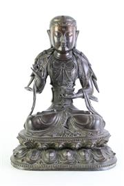 Sale 8972 - Lot 8 - A Bronze Buddha In The MedicineMudra Position H: 38cm-
