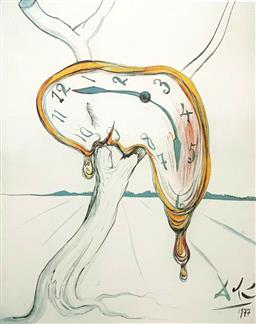 Sale 9108A - Lot 5013 - Salvador Dali (1904 - 1989) - Tearful Soft Watch 66 x 51 cm