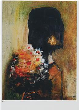 Sale 9170A - Lot 5098 - CHARLES BLACKMAN (1928 - 2019) Bouquet giclee, ed. PP 38 x 28.5 cm (frame: 72 x 60 x 3 cm, minor damager to corner) signed lower right