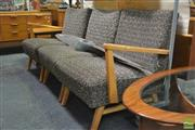 Sale 8338 - Lot 1024 - Modular Three Piece Timber Lounge