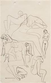 Sale 8604 - Lot 2003 - Bill Coleman (1922 - 93) - Figure Study 23.5 x 14.5cm