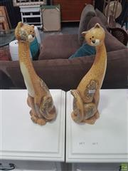 Sale 8620 - Lot 1026 - Pair of Decorative Feline Figures