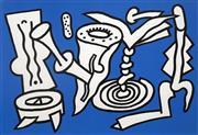 Sale 8652A - Lot 5003 - Alun Leach Jones (1937 - ) - Untitled (Blue), 1988 16.5 x 25cm (frame: 55.5 x 48.5cm)