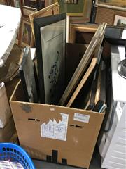 Sale 8690 - Lot 2079 - Box of Paintings, Prints & Other Works, box not included