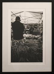 Sale 8734A - Lot 64 - Lynn Pearce - Fresh Lavendar, Organic Markets, Lilyfield, 2014 61 x 45.5cm (frame size)