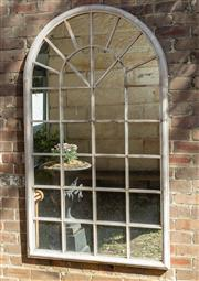 Sale 8745A - Lot 9 - An outdoor mirror, H 180 x W 104cm