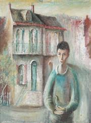 Sale 8773 - Lot 512 - William Drew (1928 - 1983) - Boy with Pigeon, 1960 60 x 45cm