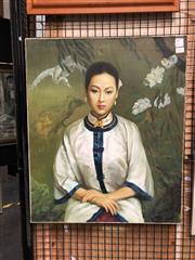 Sale 8811 - Lot 2020 - Hu Hon Yi - Portrait of a Young Woman, 2002 oil on canvas, 61 x 51cm, signed and dated lower